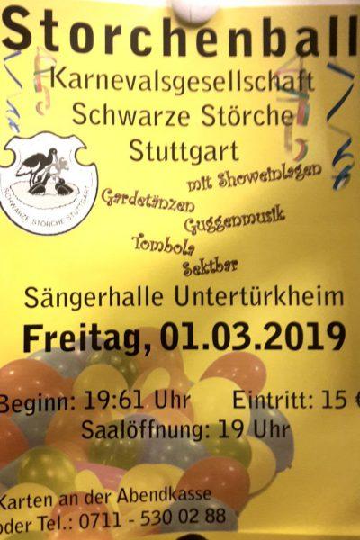 Plakat Storchenball